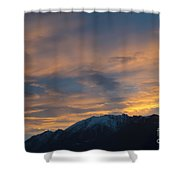 Sunset Over The Alps Shower Curtain