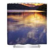 Sunset Over The Arkansas River Shower Curtain