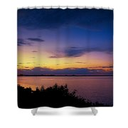 Sunset Over The Causeway Shower Curtain