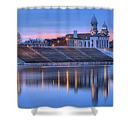 Sunset Over The Clinton County Courthouse Shower Curtain