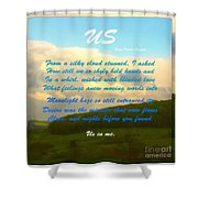 Sunset Over The Dales With Poem Shower Curtain