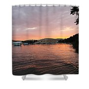 Sunset Over The Dunes Shower Curtain