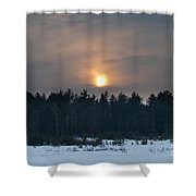 Sunset Over  The Forest Shower Curtain
