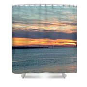 Sunset Over The Golden Gate Shower Curtain