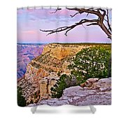 Sunset Over The Grand Canyon From South Rim Trail In Grand Canyon National Park-arizona   Shower Curtain