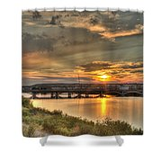 Sunset Over The Great Falls Shower Curtain