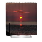 Sunset Over The Hampshire Coast Shower Curtain