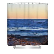 Sunset Over The Ice Shower Curtain