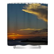 Sunset Over The Laguna Madre Shower Curtain