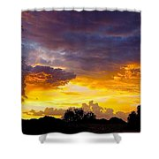 Sunset Over The Mc Dowell Mountains Shower Curtain