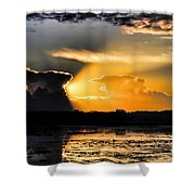 Sunset Over The Mead Wildlife Area Shower Curtain