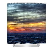 Sunset Over The Metro Shower Curtain