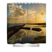 Sunset Over The Ocean II Shower Curtain by Marco Oliveira
