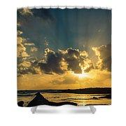 Sunset Over The Ocean Iv Shower Curtain