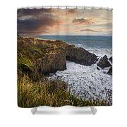 Sunset Over The Oregon Coast Shower Curtain