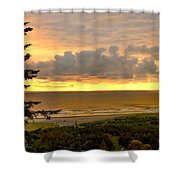 Sunset Over The Pacific Ocean Shower Curtain