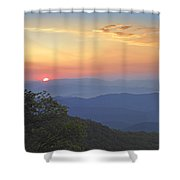 Sunset Over The Pisgah National Forest Shower Curtain