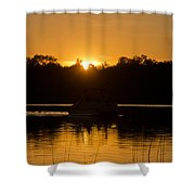 Sunset Over The Pontoon Shower Curtain