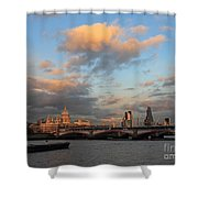 Sunset Over The River Thames London Shower Curtain