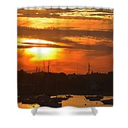 Sunset Over The Salem Willows Shower Curtain