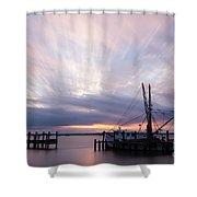 Sunset Over The Senseless Fernandina Beach Florida Shower Curtain