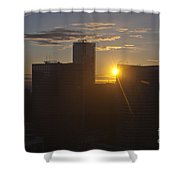 Sunset Over The Skyline Of Vancouver Shower Curtain
