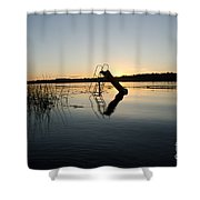 Sunset Over The Slide 4 Shower Curtain