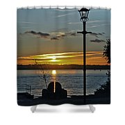 Sunset Over The Solent Shower Curtain