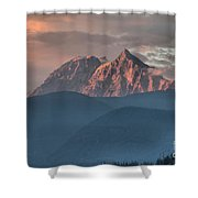 Sunset Over The Tantalus Mountains In Squamish Shower Curtain