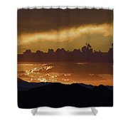 Sunset Over The Tucson Mountains Shower Curtain
