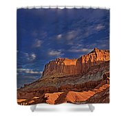 Sunset Over The Waterpocket Fold Capitol Reef National Park Shower Curtain