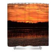 Sunset Over Tiny Marsh Shower Curtain