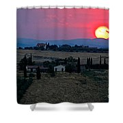 Sunset Over Tuscany In Italy Shower Curtain
