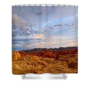 Sunset Over Valley Of Fire State Park In Nevada Shower Curtain