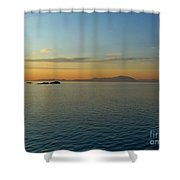 Sunset Over Vancouver Island Shower Curtain