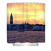 Sunset Over Venice Shower Curtain