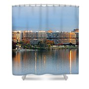Sunset Over Watergate Shower Curtain