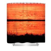 Sunset Panarama Lacassine Shower Curtain