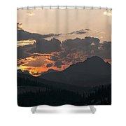 Sunset Panorama Banff National Park Shower Curtain