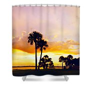 Sunset Panorama Shower Curtain