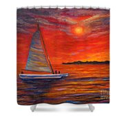 Sunset Passion Shower Curtain