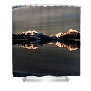 Sunset Peaks Shower Curtain