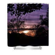 Sunset Purple Sky Shower Curtain
