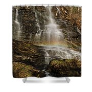 Sunset Rainbow At Amicalola Falls Shower Curtain