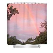 Sunset Rainbow Shower Curtain