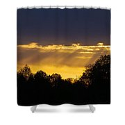 Sunset Rays 2014 Shower Curtain