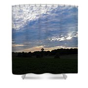Sunset Rays 5 Shower Curtain