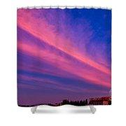 Sunset Rays Shower Curtain