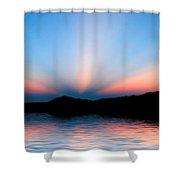 Sunset Rays Over Island Shower Curtain