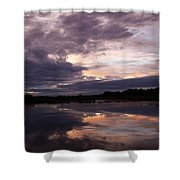 Sunset Reflected In A Lake Shower Curtain